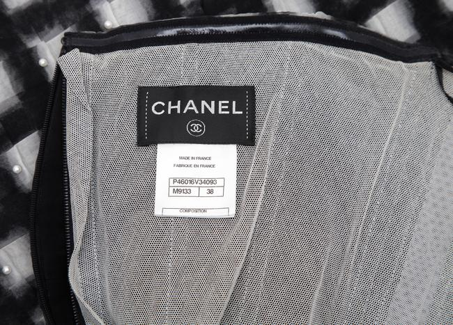Chanel Short Strapless Party Dress Image 8