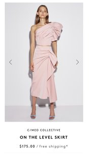 C/meo Collective Maxi Skirt Blush Pink