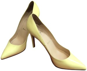 Christian Louboutin Pigalle Patent Leather Yellow Pumps