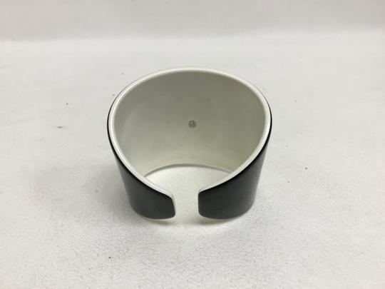 Chanel Black and white resin CC cuff Image 4