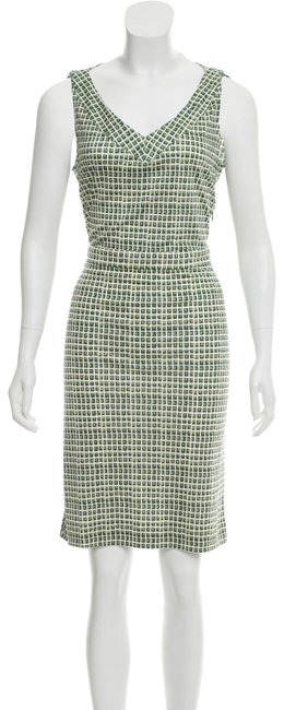 Preload https://img-static.tradesy.com/item/25970874/tory-burch-green-shift-v-neck-mid-length-workoffice-dress-size-0-xs-0-5-650-650.jpg
