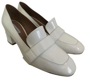 Tabitha Simmons Leather Loafer White Pumps