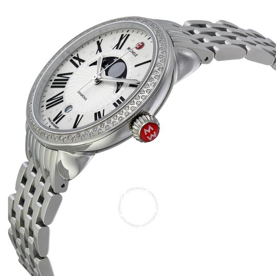Michele Serein 16 Stainless Steel Moon Phase Stars Diamond Dial MWW21D000002 Image 2