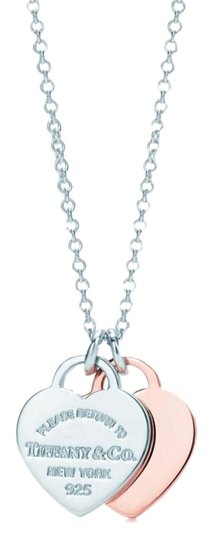Preload https://item3.tradesy.com/images/tiffany-and-co-rose-gold-sterling-silver-double-heart-tag-925-necklace-25971137-0-2.jpg?width=440&height=440