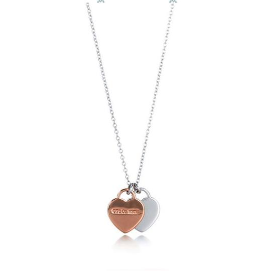 Tiffany & Co. Double Heart Tag 925 Necklace Image 1