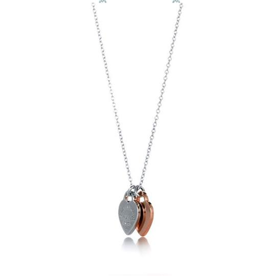 Tiffany & Co. Double Heart Tag 925 Necklace Image 2