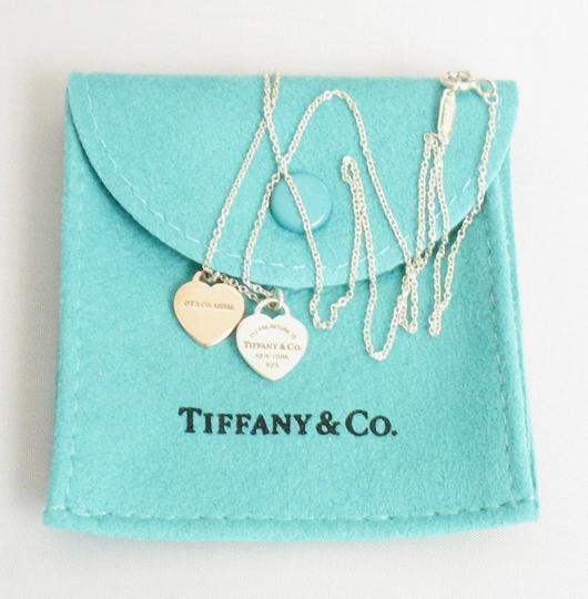 Tiffany & Co. Double Heart Tag 925 Necklace Image 4