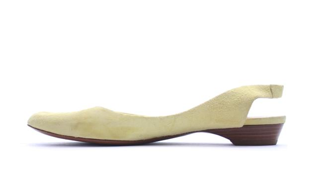 Item - Yellow Suede Slingback Flats Size US 9.5 Regular (M, B)