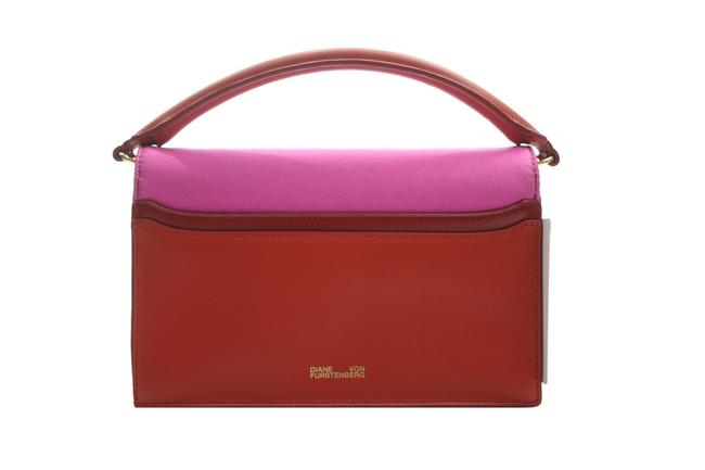 Item - Evening Bag & Red Leather New with Tag Pink Silk Clutch