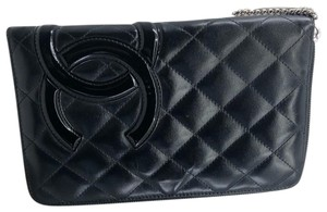 Chanel CC023 Chanel Cambon Quilted Zip around wallet organizer