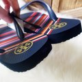 Tory Burch Navy/Vivid Stripe Sandals Image 2