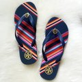 Tory Burch Navy/Vivid Stripe Sandals Image 5