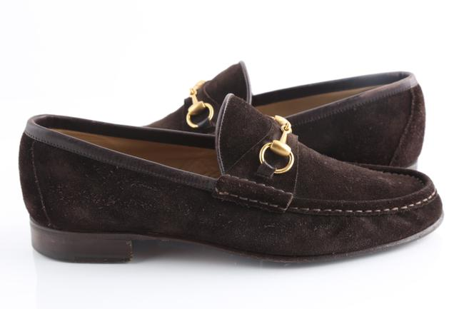Item - Brown Horsebit Suede Loafers Shoes