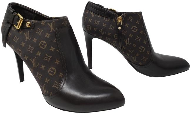Item - Brown Leather Lv Idylle Print Point-toe Boots/Booties Size EU 40 (Approx. US 10) Regular (M, B)