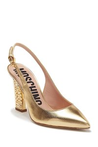 Moschino gold with tag Pumps