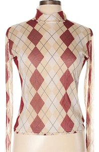 Burberry Top tan and red