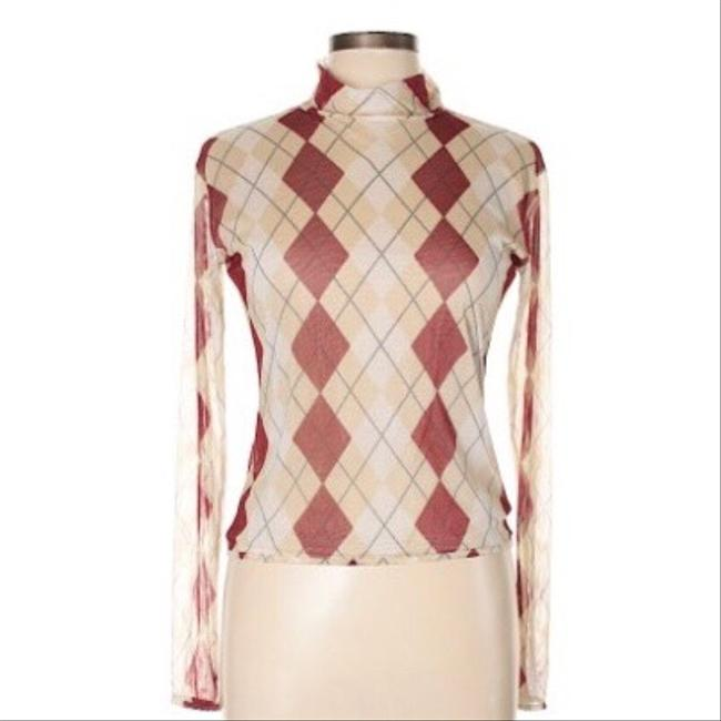 Burberry Top tan and red Image 1