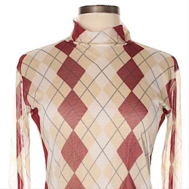 Burberry Top tan and red Image 2