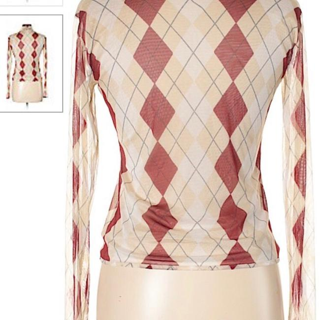 Burberry Top tan and red Image 3