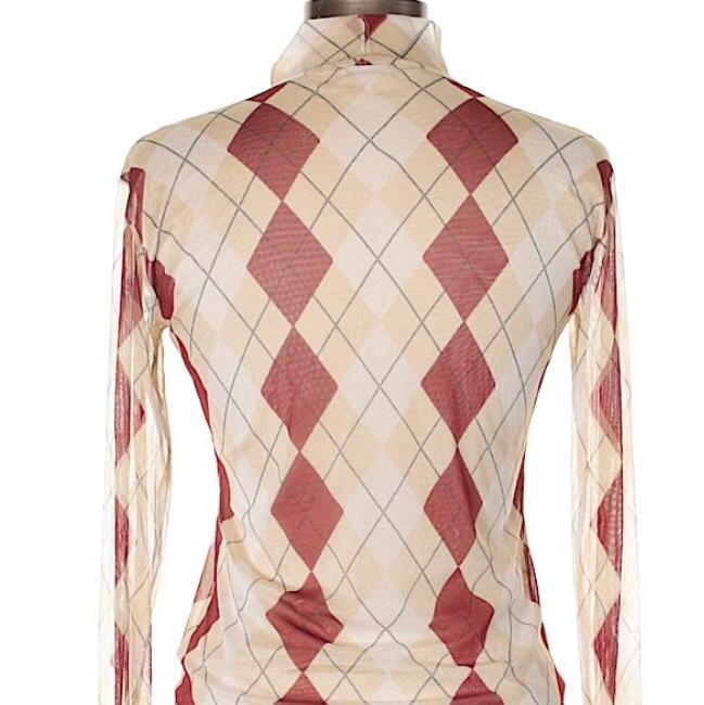 Burberry Top tan and red Image 4