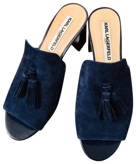 Preload https://img-static.tradesy.com/item/25971737/karl-lagerfeld-navy-blue-suede-leather-upper-patent-leather-heel-mulesslides-size-us-7-regular-m-b-0-2-540-540.jpg
