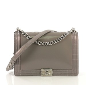 Chanel Flap Iridescent Chain Cc Silver Cross Body Bag