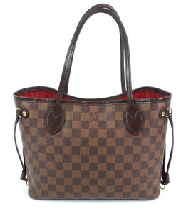 Louis Vuitton Checkered Shopping Red Top Handle Drawstring Tote in Brown