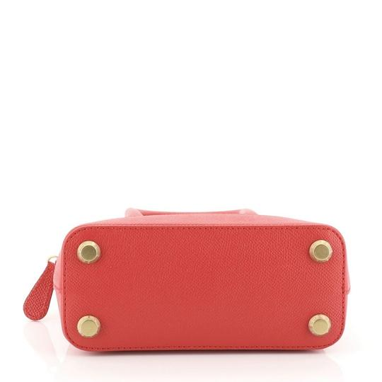 Balenciaga Logo Ville Leather Satchel in red Image 3
