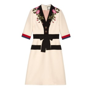 Gucci short dress Off-white on Tradesy