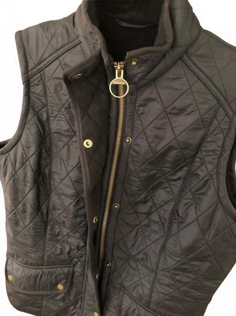 Item - Black Quilted Cavalry Gilet Vest Size 10 (M)