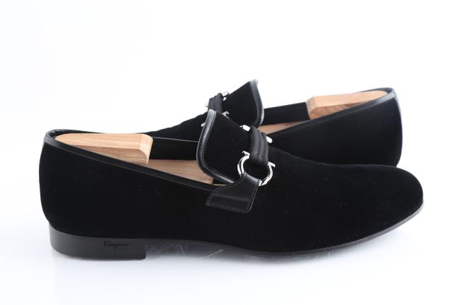Item - Black Velvet Party Loafers Shoes