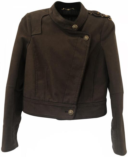 Item - Brown Military Wool Jacket Size 6 (S)