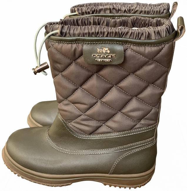 Item - Army Green Quilted All-weather Boots/Booties Size US 7.5 Regular (M, B)