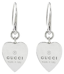 Gucci Silver Sterling Heart Earrings