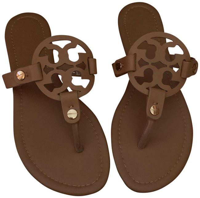 Item - Camel Miller Leather Sandals Size US 8 Narrow (Aa, N)