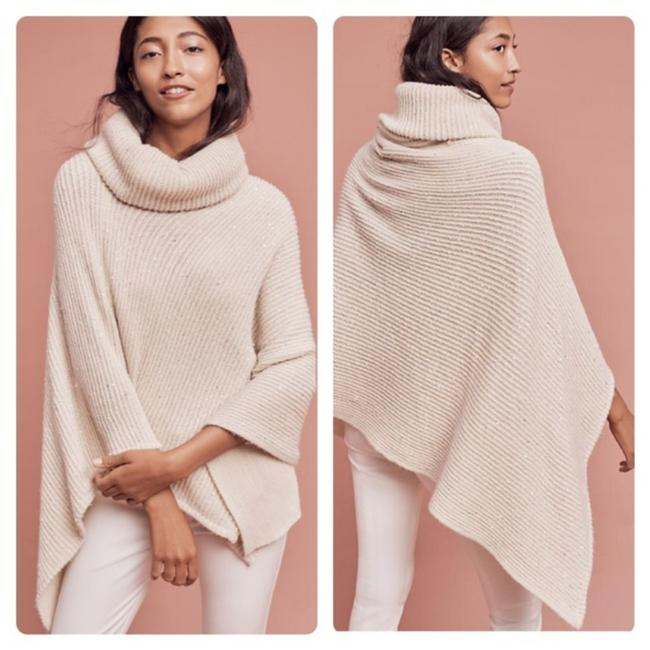 Item - Cream Sequin Cowl Poncho/Cape Size OS (one size)