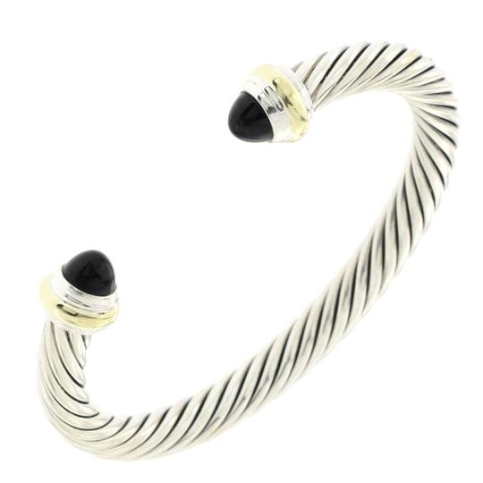 Preload https://img-static.tradesy.com/item/25973108/david-yurman-silver-and-gold-925-7mm-cable-black-onyx-bangle-7-bracelet-0-0-540-540.jpg