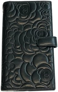 Chanel Camellia CC Fench Flap Wallet