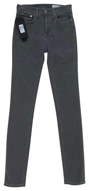 Item - Gray Coated Rin High Rise 25 Skinny Jeans Size 0 (XS, 25)