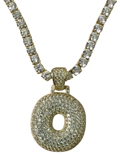 Preload https://img-static.tradesy.com/item/25973370/gold-14k-solid-ag-5mm-tennis-chain-o-charm-necklace-0-2-540-540.jpg