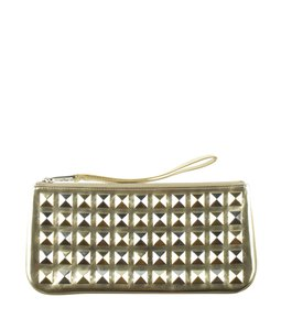 Marc Jacobs Leather Wristlet in Gold