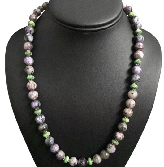 Preload https://img-static.tradesy.com/item/25973392/charoite-green-turquoise-sterling-silver-necklace-0-2-540-540.jpg