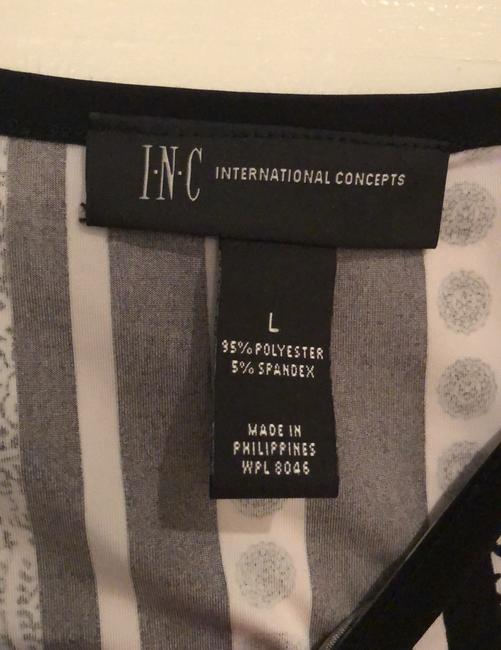 INC International Concepts Top black and white Image 4