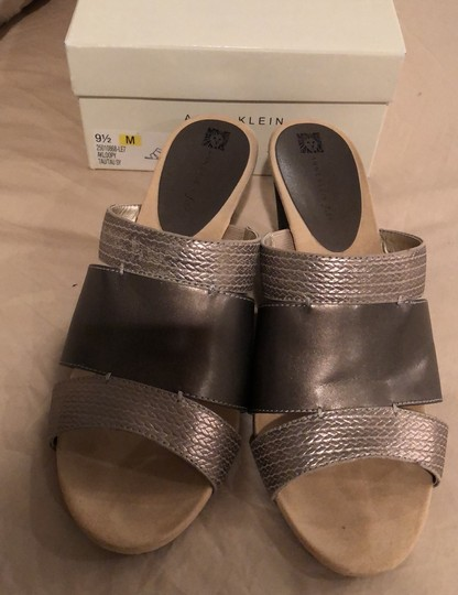 Anne Klein pewter Wedges Image 1