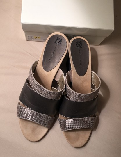 Anne Klein pewter Wedges Image 2