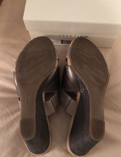 Anne Klein pewter Wedges Image 4