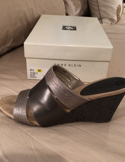 Anne Klein pewter Wedges Image 6