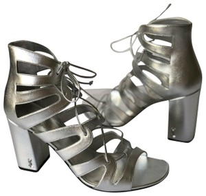 Saint Laurent SILVER METALLIC Sandals
