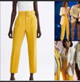 Zara Trouser Pants yellow Image 1