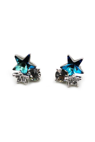 Preload https://img-static.tradesy.com/item/25973440/blue-lovely-cute-star-crystal-earrings-0-0-540-540.jpg